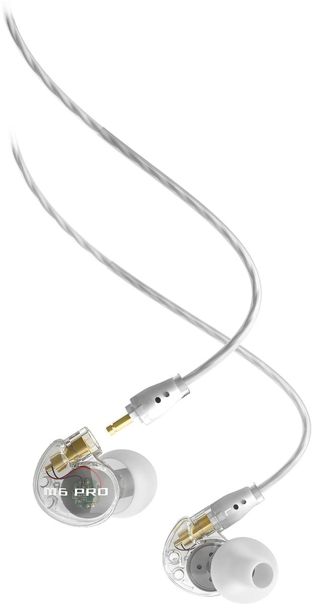 MEE Audiо M6PRO, Clean наушникиEP-M6PRO-CL-MEEMEE audio M6 PRO - это отличные внутриканальные наушники, которые благодаря отличному чистому звуку, качественной звукоизоляции и влагонепроницаемой конструкции, способны понравиться всем - и выступающим музыкантам, и проводящим много времени в спортзале людям, и простым любителям музыки.Наушники чрезвычайно комфортно размещаются внутри ушного канала и помогают наслаждаться любимой музыкой практически в любых условиях. Конструкция данной модели чрезвычайно надежна: прочный корпус и отсоединяемые сменные кабели позволяют точно знать, что наушники прослужат вам долго. Кабель со встроенным мини-пультом ДУ и микрофоном поможет с гораздо большим комфортом пользоваться наушниками в связке со смартфонами или планшетами. Короткое описание Универсальные вакуумные наушники для музыкантов MEE audio M6 PRO с микрофоном и пультом управления - это непревзойденный дизайн и превосходное качество звучания. Они подойдут для занятий спортом, пробежек, активного времяпровождения и для сцены. MEE audio M6P обеспечивают чистый звук с глубоким басом. Это надежные наушники, которые отлично впишутся в стиль молодых, активных людей. Сменные амбушюры отлично блокируют фоновый шум. Также они совместимы с iPod, iPhone, телефонами и MP3-проигрывателями. Характеристика Идеально подходят для использования на сцене Кристально чистый студийный звук Шумоизолирующий дизайн Сертифицированный пото- и водостойкий дизайн IPX5 Провод с эффектом памяти в области уха для прочной посадки наушников Информация M6 PRO был разработан совместно с музыкантами, поэтому он идеально подходит для использования на сцене.