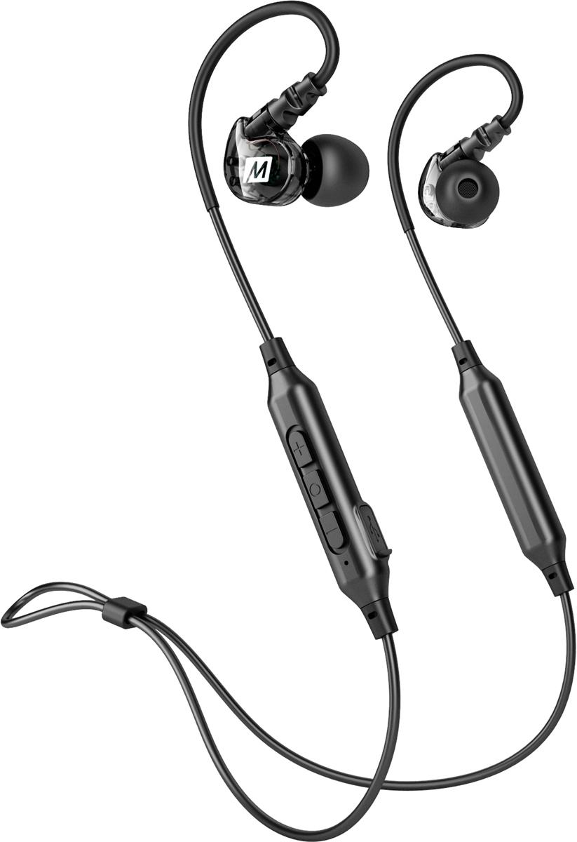 MEE audio X6, Black беспроводные наушникиEP-X6-BK-MEEРазработанные для спорта, наушники MEE audio X6 Stereo Bluetooth Wireless Sports In-Ear Heads избавляют вас от проводов, чтобы обеспечить беспрецедентную свободу передвижения.Легкая и эргономичная беспроводная гарнитура, предназначенная для активного образа жизни Подвеска с гибкими проволочными зажимами безопасна для любой деятельности Технология Bluetooth 4.2; улучшенное пот-устойчивое нано-покрытие Встроенный микрофон и органы управления для телефонных звонков, громкости и мультимедиа Включает 4 комплекта наушниковБЕЗОПАСНАЯ КОНСТРУКЦИЯ Современное покрытие обеспечивает защиту от повреждений из-за пота, влаги и элементов, в то время как дизайн сохраняет звук внутри уха, отсекая внешние шумы.ПЕРЕДОВАЯ ТЕХНОЛОГИЯ BLUETOOTH Технология Bluetooth 4.2 обеспечивает богатый звук с глубоким басом и отличной четкостью, индикатор батареи в реальном времени на устройствах Apple iOS и многофункциональные функции для управления вызовами.КОМПЛЕКТАЦИЯ: X6 Спортивная Беспроводная Гарнитура Зарядный кабель Micro-USB 4 комплекта вкладышей