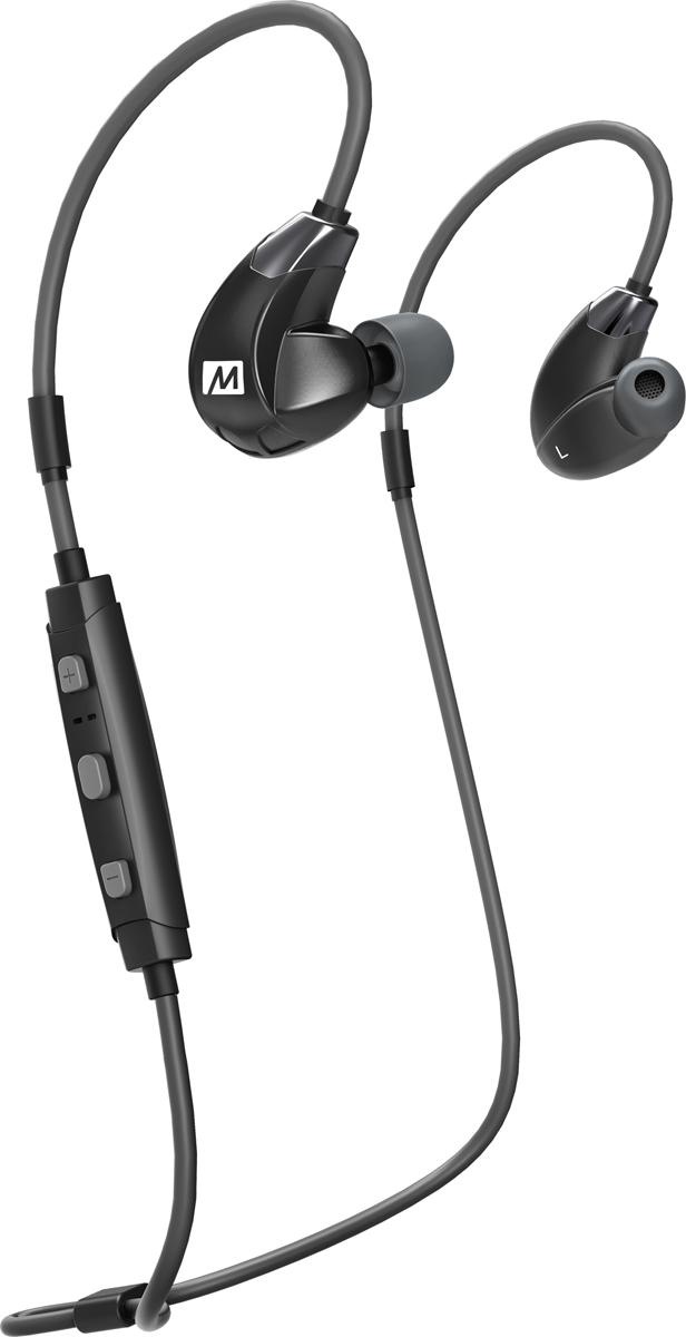 MEE Audiо Х7PLUS, Black беспроводные наушникиEP-X7Plus-BK-MEEСпортивные наушники MEE audio X7 PLUS - это беспроводные наушники, которые подходят для людей ведущих активный образ жизни. Превосходное звучание наушников передается посредством подключения через Bluetooth 4.1 c вашим смартфоном или планшетом. Наушники MEE AUDIO Sport-Fi X7 PLUS компактны и очень удобны, а благодаря своей необычной форме, наушники плотно прилегают к уху, не давая им спадать во время занятий спортом. Встроенный микрофон позволит вам прямо на ходу разговаривать с друзьями, слушать музыку, переключать треки или увеличивать громкость. Зарядка наушников происходит посредством подключения к USB- порту вашего компьютера. Полный цикл зарядки составляет 2 часа. Корпус имеет водонепроницаемую технологию Liquipel Watersafe что позволяет обеспечить наушникам защиту от пота. Наушники MEE audio X7 PLUS позволяют работать с двумя устройствами одновременно. Комфортная подгонка посадки наушников благодаря проводу с эффектом памяти безопасна для любой деятельности Расширенная технология Bluetooth 4.1 с многоточечной функциональностью Высокоточный звук с поддержкой аудиокодеков aptX и AAC HD Потостойкий дизайн с технологией Liquipel WatersafeВстроенный микрофон и кнопки управления для телефонных звонков, громкости и мультимедиа Аккумуляторная батарея обеспечивает до 8 часов разговора/воспроизведения музыки Комплект включает защитный чехол и 3 комплекта наушниковБЕСПРОВОДНАЯ СВОБОДА ДЛЯ ВАШЕГО АКТИВНОГО ЖИЗНИ Разработанный для активного образа жизни, MEE audio X7 PLUS сочетает в себе высококачественный беспроводной звук с надежной, запертой посадкой, пот-устойчивой конструкцией и встроенным микрофоном, обеспечивающий беспрецедентную свободу движения и превосходную точность воспроизведения звука.МУЗЫКА, КОТОРАЯ ВСЕГДА С ВАМИ Благодаря элегантному стильному дизайну, легкой конструкции и современной эргономике MEE audio X7 PLUS одинаково хорошо подходит для использования в тренажерном зале, в офисе и в пути. Шу