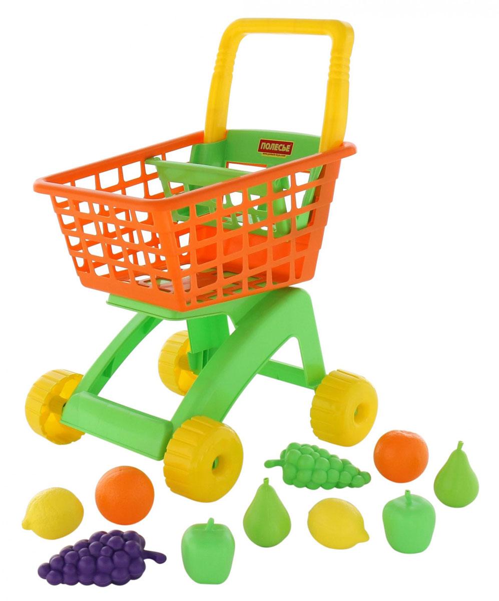 Полесье Игрушечная тележка для магазина с набором продуктов № 7 10 предметов