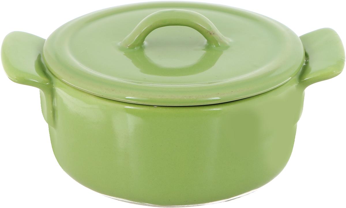 Форма для запекания Calve, круглая, с крышкой, цвет: салатовый, диаметр 10 см. P066 форма для запекания calve круглая 550 мл