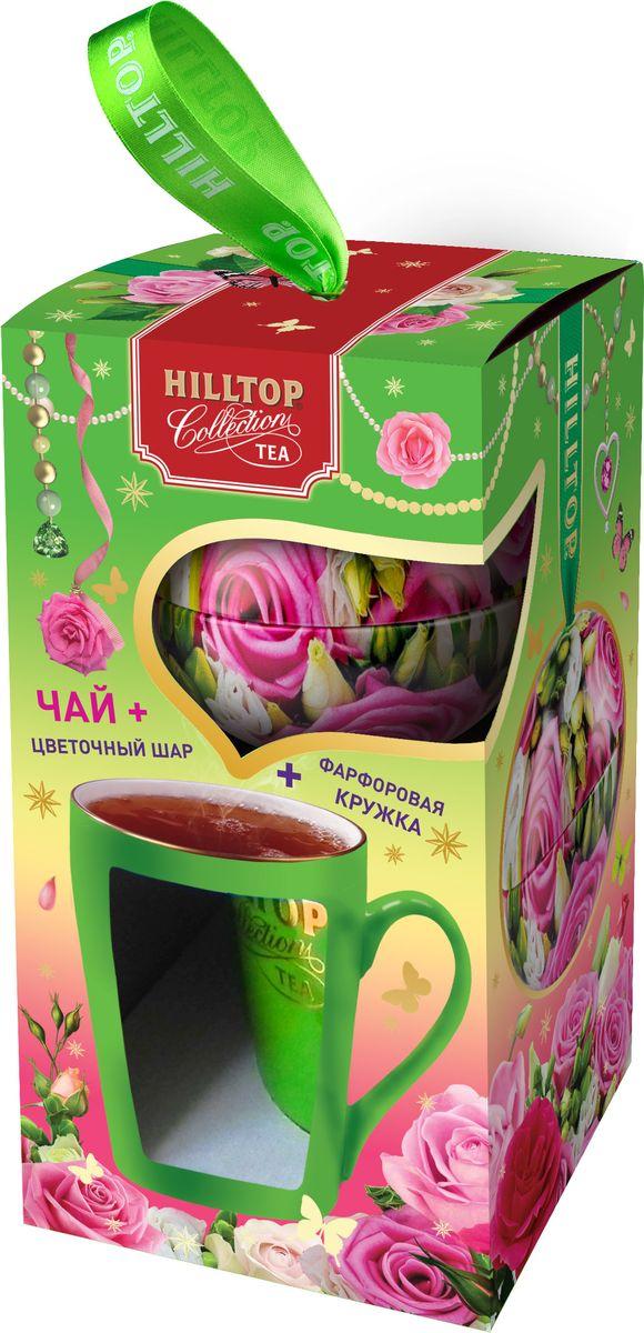 Hilltop Нежность чай листовой королевское золото подарочный набор  кружкой, 80 г