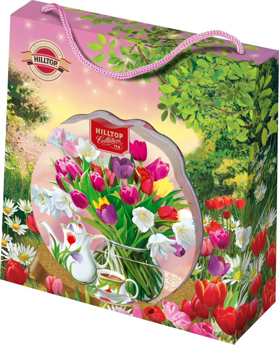 Hilltop Нежные тюльпаны цейлонское утро чай листовой, 80 г hilltop люблю листовой чай молочный оолонг 50 г