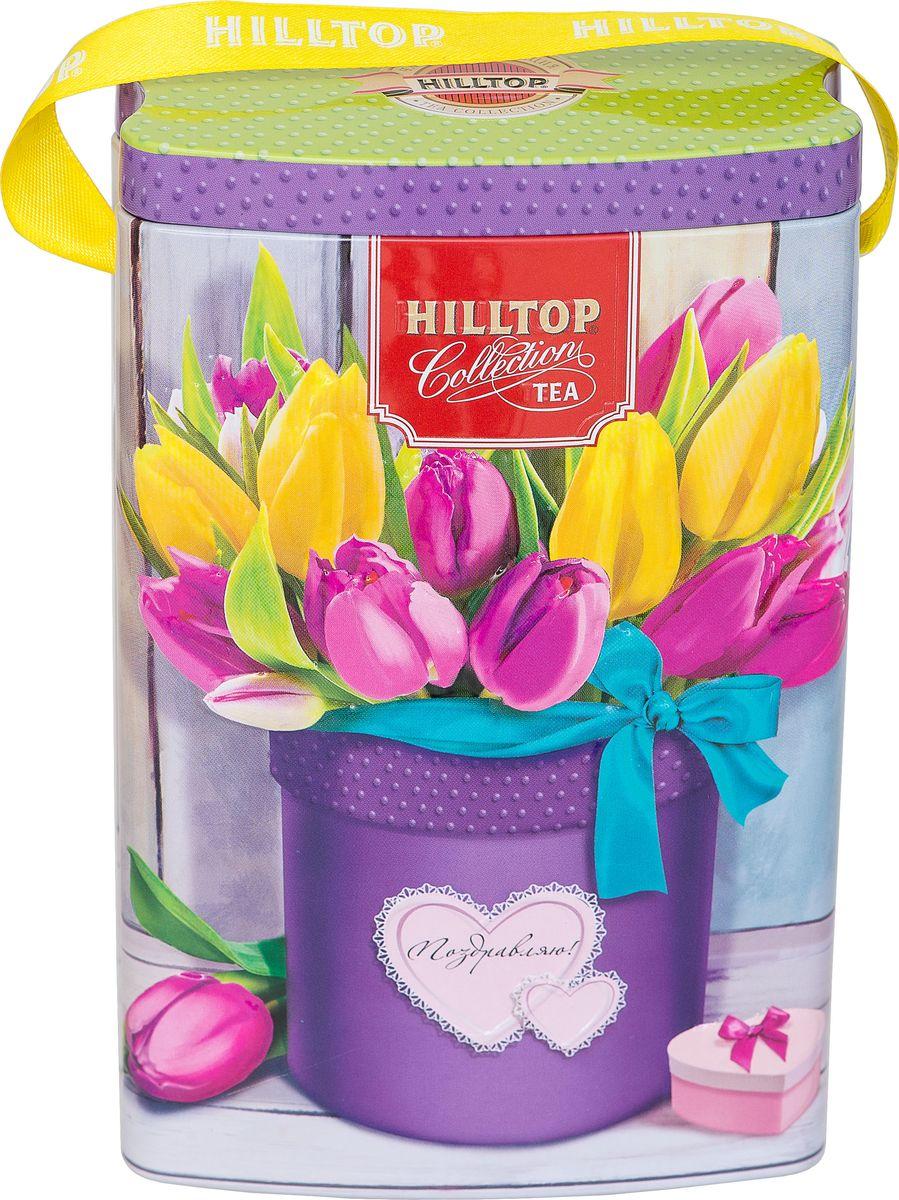 Hilltop Тюльпаны чай листовой цейлонское утро, 125 г4607099308916_тюльпаныЧай Цейлонское утро - классический черный чай с мягким ароматом и тонизирующими свойствами.