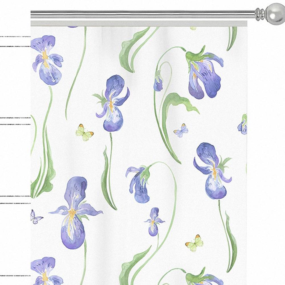 "Штора Apolena ""Iris"", на ленте, цвет: синий, высота 270 см. P508-8331/1"