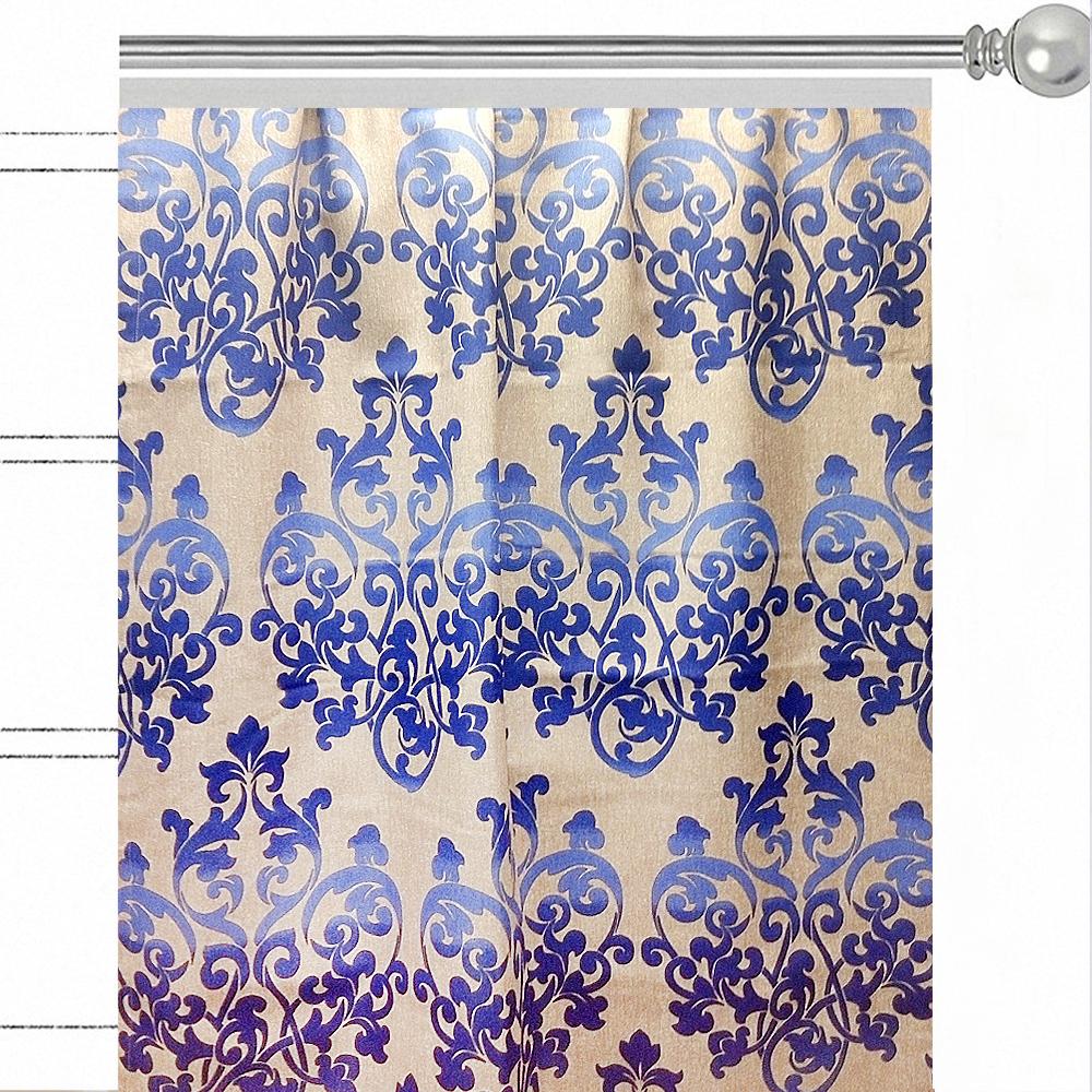 Штора Altali Illumination, на ленте, цвет: синий, высота 270 см. P708-8759/1 шторы интерьерные altali штора с рисунком biscay bay