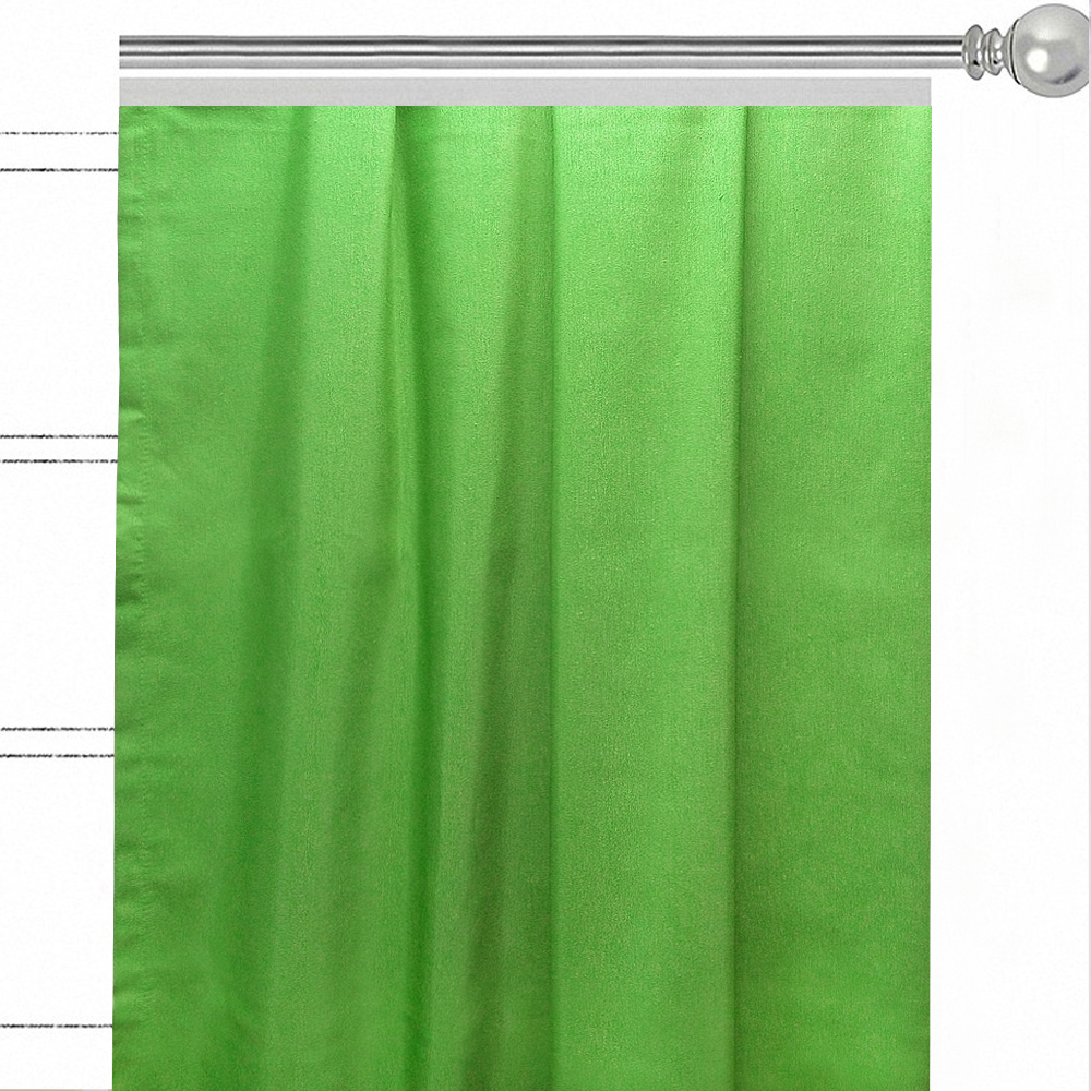 "Штора Altali ""Green"", на ленте, цвет: зеленый, высота 270 см. P708-Z162/1"