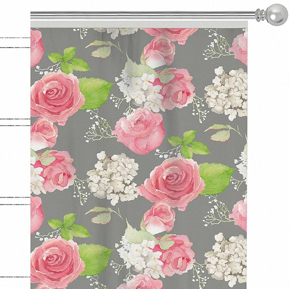 Штора Apolena Roses , на ленте, цвет: розовый, высота 270 см. P508-8276/2