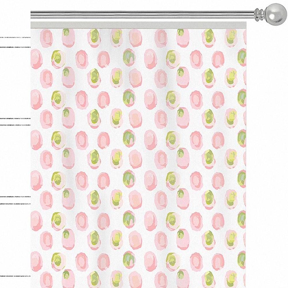 Штора Apolena Sweet home, на ленте, цвет: розовый, высота 270 см. P508-8367/1