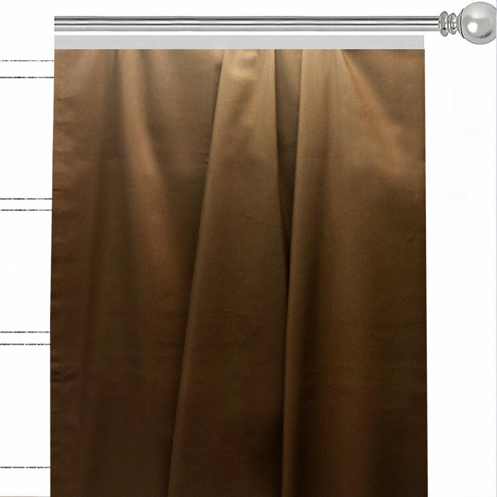 """Штора Altali """"Кофе"""", на ленте, цвет: коричневый, высота 270 см. P708-Z109/1"""