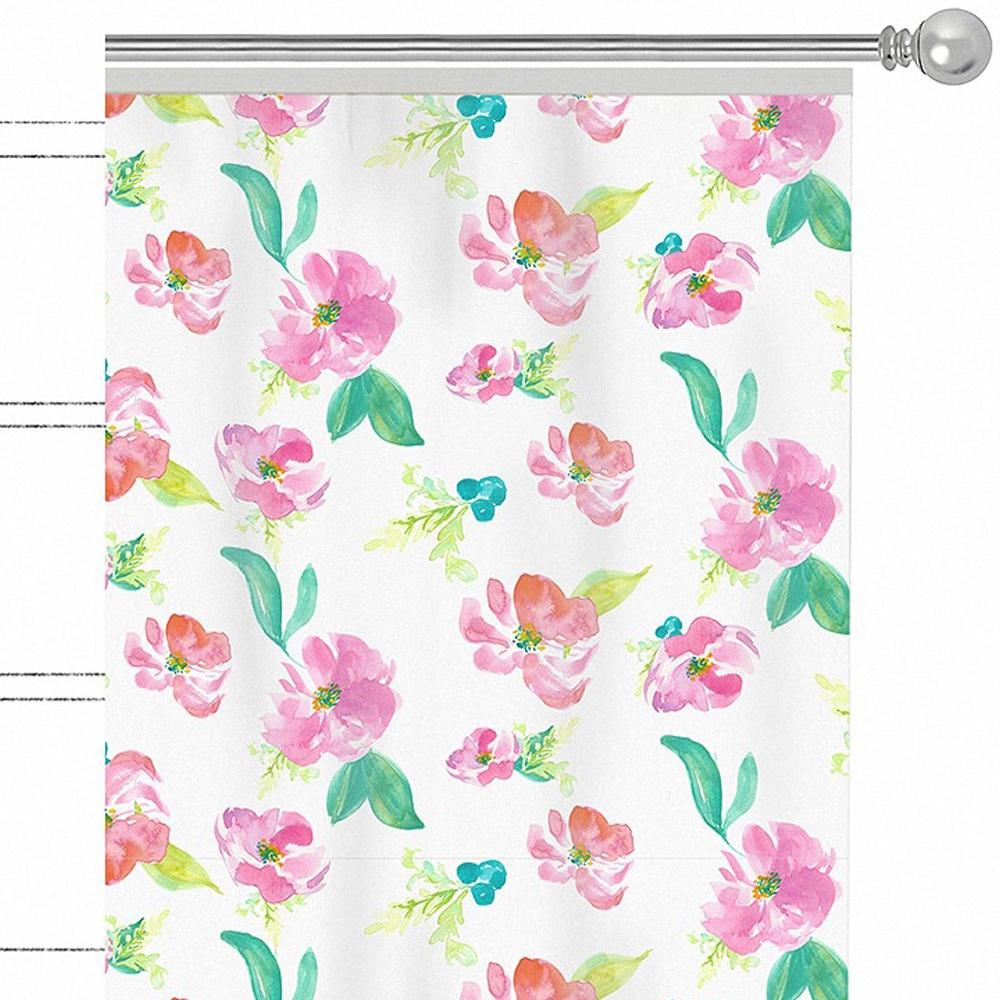"""Штора Apolena """"Beautiful"""", на ленте, цвет: розовый, высота 270 см. P508-8251/1"""