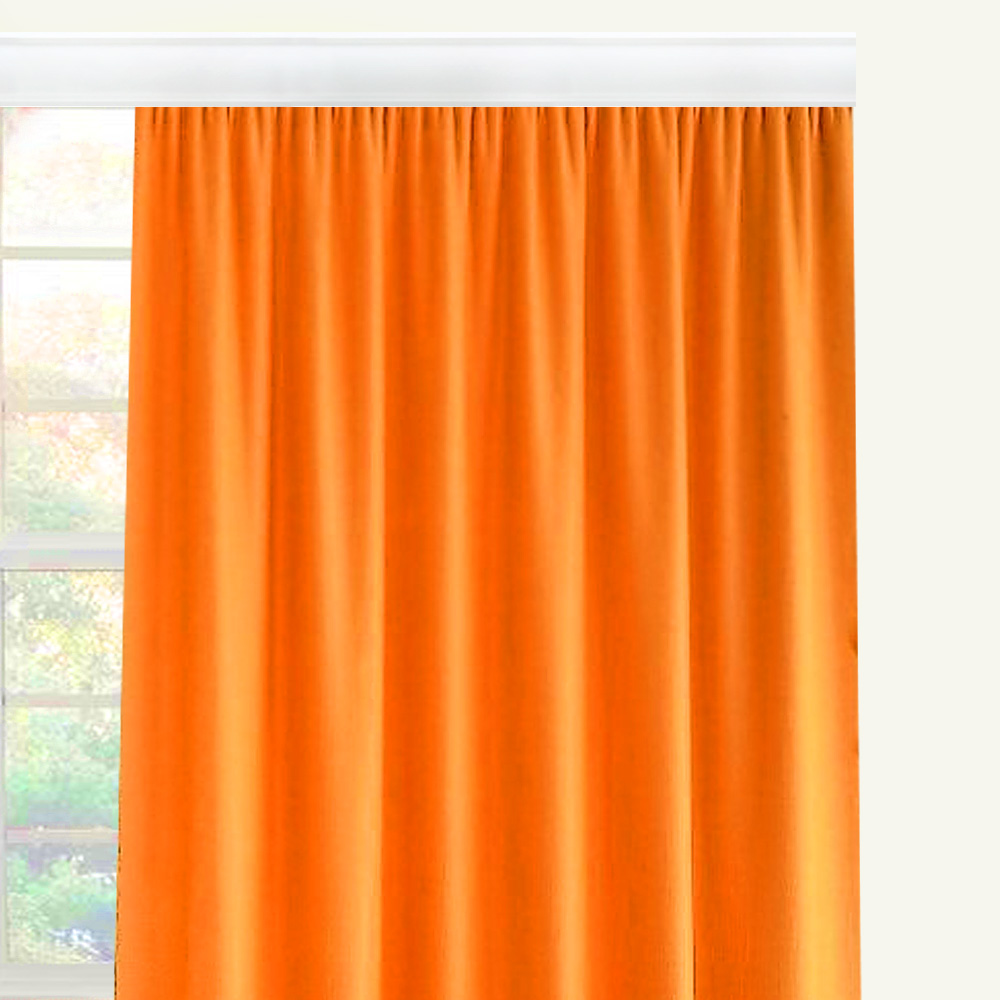 "Штора Altali ""Оранж"", на ленте, цвет: оранжевый, высота 270 см. P708-Z122/1"