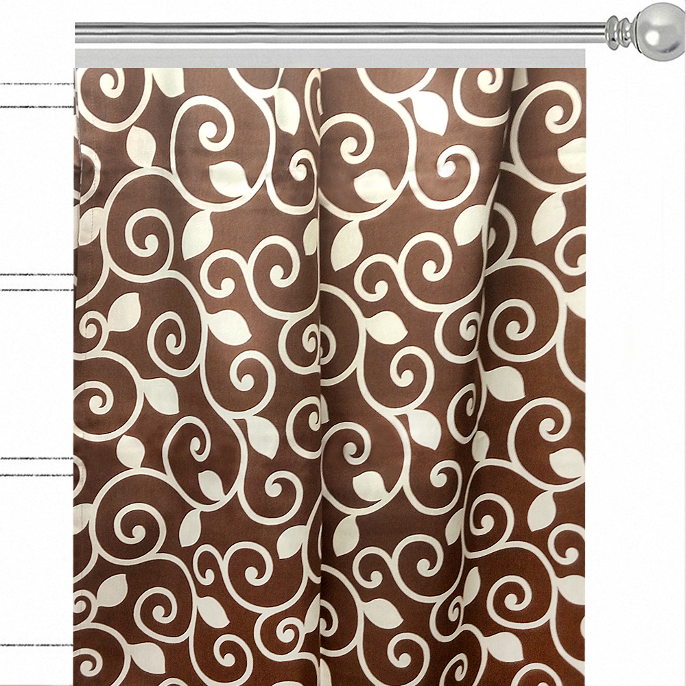"""Штора Altali """"Фонда"""", на ленте, цвет: коричневый, высота 270 см. P708-1812/1"""