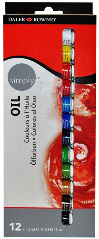 Daler Rowney Набор масляных красок Simply 12 цветов12 мл118500100Масляные краскиDaler Rowney серииSimply Selection для профессиональных художников, студентов и любителей. 12 основных цветов в тубах по 12 мл.