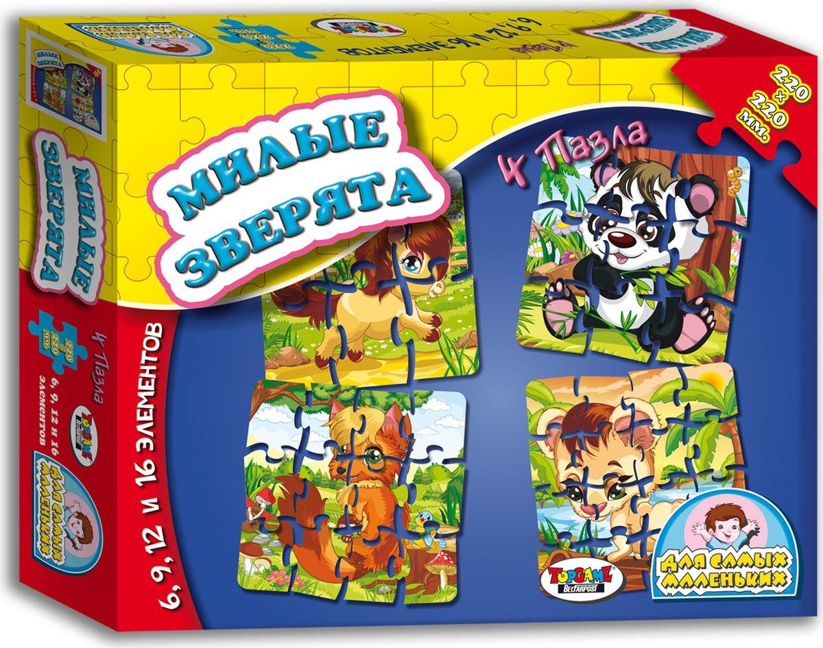 TopGame Пазл для малышей Милые зверята