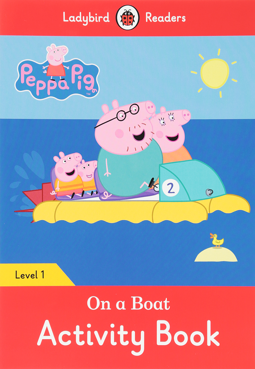 Peppa Pig: On a Boat: Activity Book: Level 1 girl on the boat