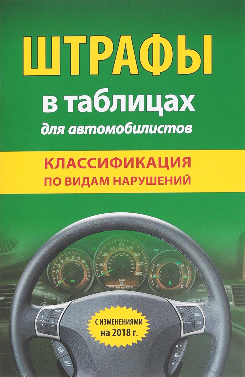 Штрафы в таблицах для автомобилистов. Классификация по видам нарушений
