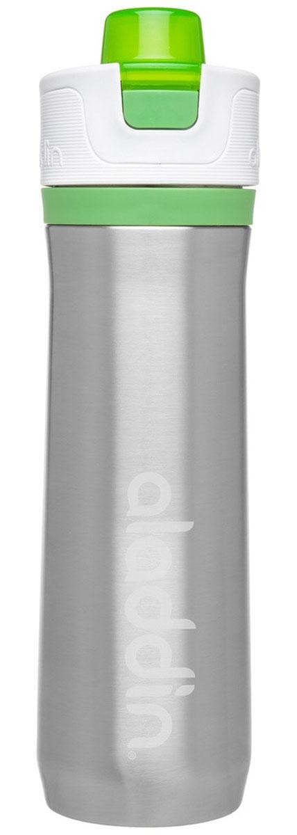 Бутылка для воды Aladdin Active, цвет: зеленый, 600 мл10-02674-004Стильная бутылка для воды Aladdin Active, изготовленнаяиз нержавеющей стали, оснащена крышкой,котораяплотно и герметично закрывается.Употребление достаточного количества жидкости -важнаячасть спортивного режима. Благодаря эргономичнойформеэту бутылку удобно носить в руках.Можно мыть в посудомоечной машине.
