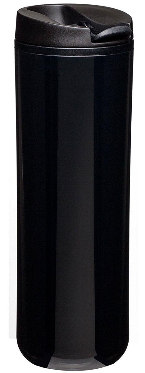 Термокружка Aladdin, цвет: черный, 470 мл10-01918-054Термокружка Aladdin с герметичной крышкой из пластика. Совместима с подстаканником автомобиля.Можно мыть в посудомоечной машине.