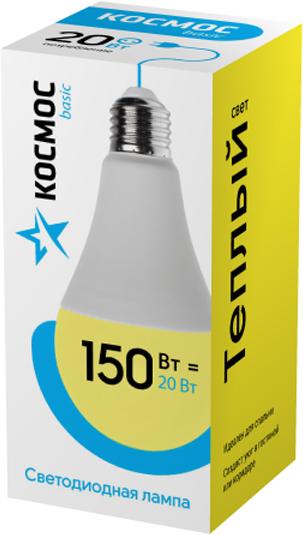 Декоративная светодиодная лампа А65 20 Вт серии Космос Экономик является аналогом лампы накаливания 150 Вт. В основе лампы используются чипы от мирового лидера Epistar, что обеспечивает надежную и стабильную работу в течение всего срока службы (25 000 часов). До 90% экономии энергии по сравнению с обычной лампой накаливания (сопоставимы по размеру); стабильный световой поток в течение всего срока службы; экологическая безопасность (не содержит ртути и тяжелых металлов); мягкое и равномерное распределение света повышает зрительный комфорт и снижает утомляемость глаз; благодаря высокому индексу цветопередачи свет лампы комфортен и передает естественные цвета и оттенки; инструкция по эксплуатации и гарантийный талон - в комплекте.