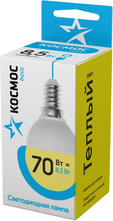 Декоративная светодиодная лампа-шарик 8.5 Вт серии Космос BASIC является аналогом лампы накаливания 70 Вт. В основе лампы используются чипы от мирового лидера Epistar, что обеспечивает надежную и стабильную работу в течение всего срока службы (25 000 часов). До 90% экономии энергии по сравнению с обычной лампой накаливания (сопоставимы по размеру); стабильный световой поток в течение всего срока службы; экологическая безопасность (не содержит ртути и тяжелых металлов); мягкое и равномерное распределение света повышает зрительный комфорт и снижает утомляемость глаз; благодаря высокому индексу цветопередачи свет лампы комфортен и передает естественные цвета и оттенки; инструкция по эксплуатации и гарантийный талон - в комплекте.