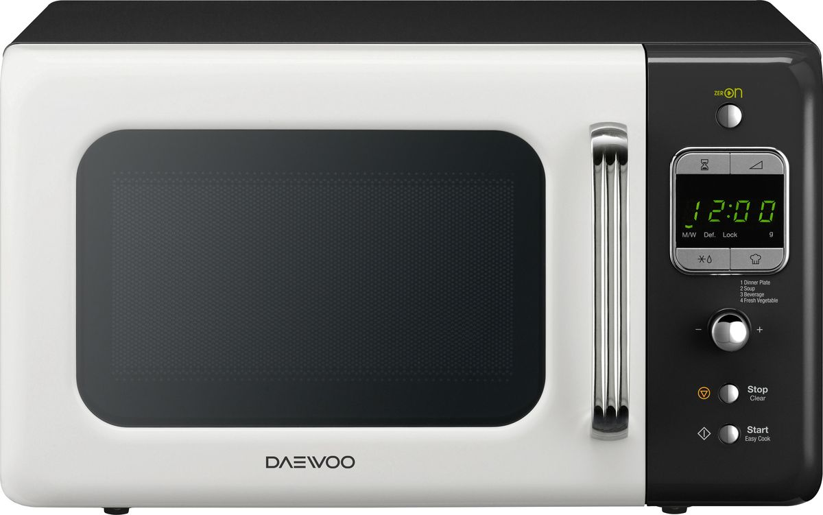 Daewoo KOR-6LBR, White Black микроволновая печь