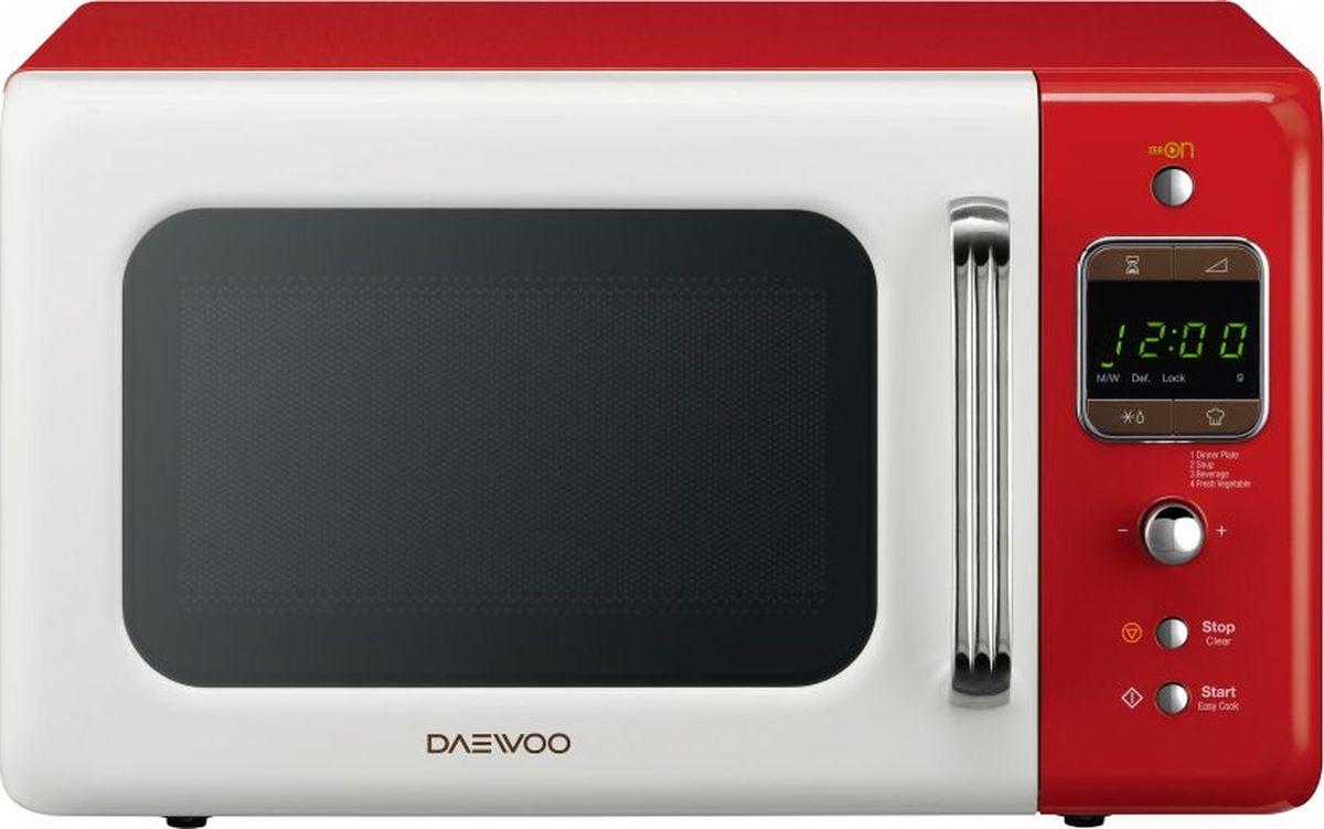 Daewoo KOR-6LBRWR, White Red микроволновая печь daewoo kor 662bw белый