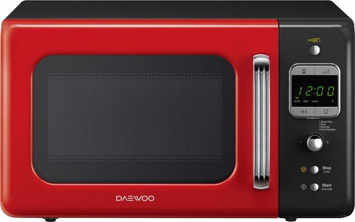 Daewoo KOR-6LBRRB, Black Red микроволновая печь