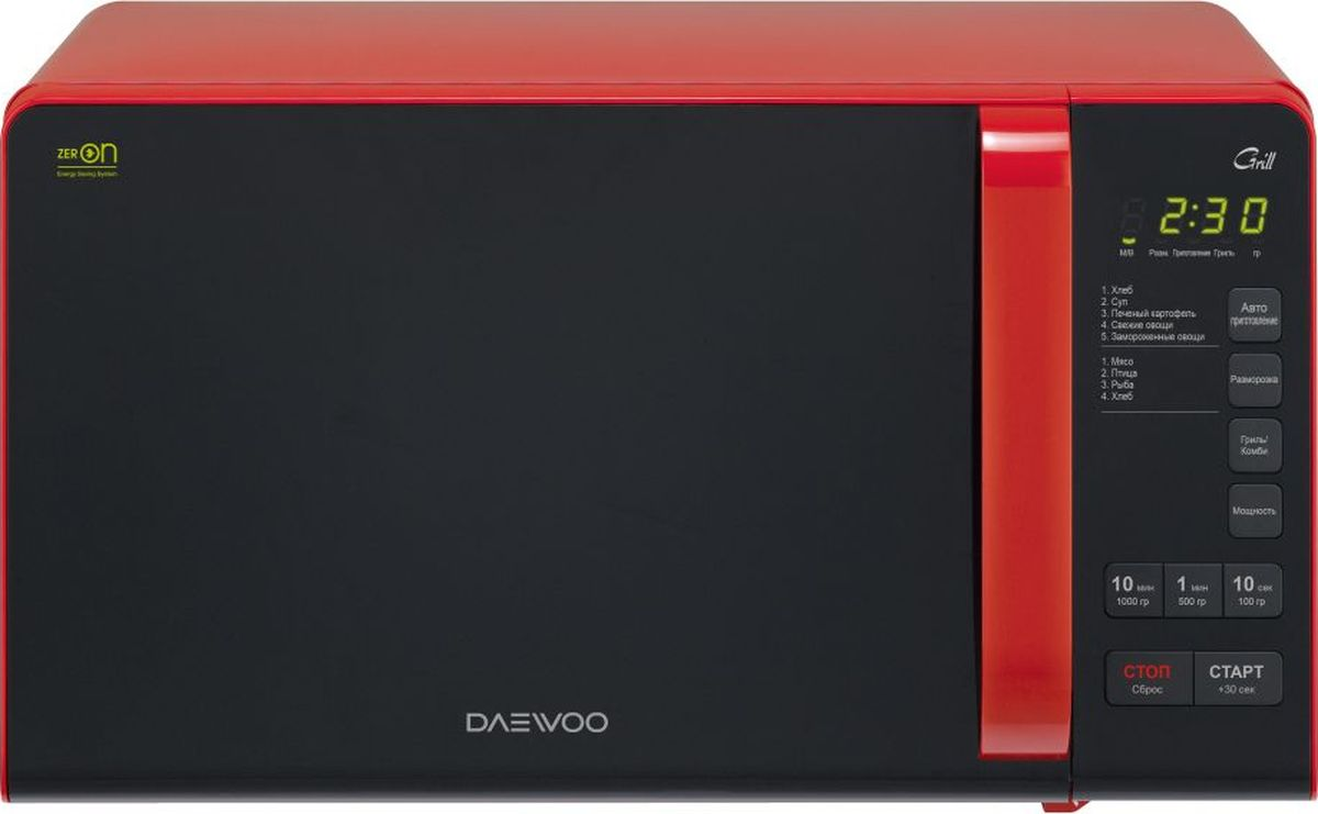 Daewoo KQG-663R, Black Red микроволновая печь