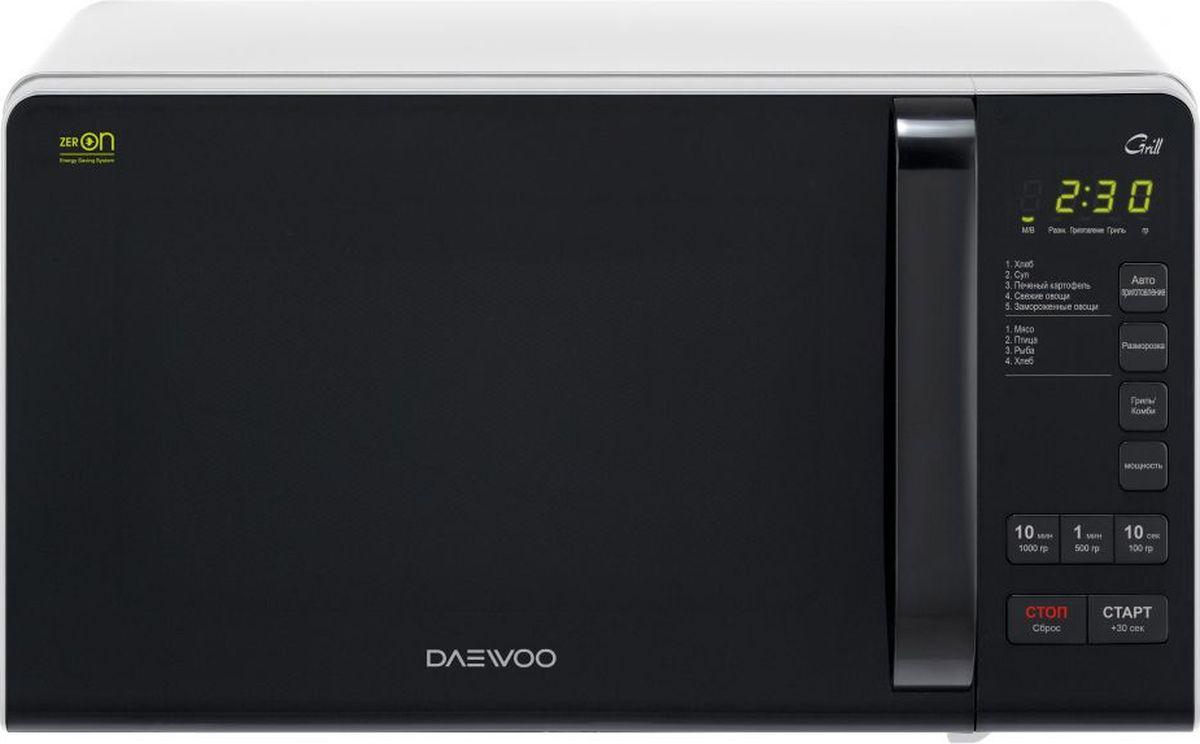 Daewoo KQG-663B, White Black микроволновая печь