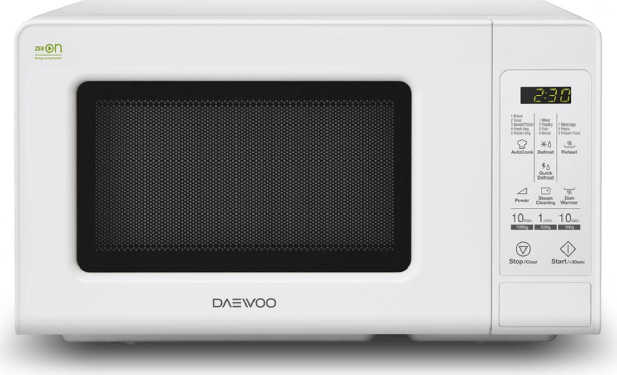 Daewoo KOR-660BW, White микроволновая печьKOR-660BW20 л, мощность - 700Вт, сенсорное управление, внутреннее покрытие - акри л, система вогнутых отражателей, цвет - белый, открытие дверцы - кнопка