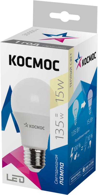 Декоративная светодиодная лампа А60 15 Вт серии Космос Стандарт является аналогом лампы накаливания 130 Вт. В основе лампы используются чипы от мирового лидера Epistar, что обеспечивает надежную и стабильную работу в течение всего срока службы (30 000 часов). До 90% экономии энергии по сравнению с обычной лампой накаливания (сопоставимы по размеру); стабильный световой поток в течение всего срока службы; экологическая безопасность (не содержит ртути и тяжелых металлов); мягкое и равномерное распределение света повышает зрительный комфорт и снижает утомляемость глаз; благодаря высокому индексу цветопередачи свет лампы комфортен и передает естественные цвета и оттенки; инструкция по эксплуатации и гарантийный талон - в комплекте.