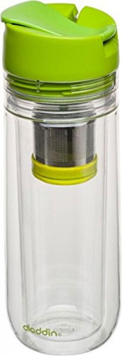 Бутылка для заваривания Aladdin, цвет: зеленый, 350 мл aladdin 35 л фиолетовая