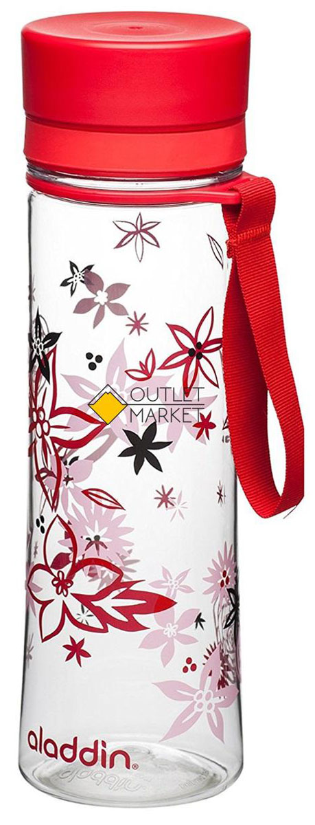 """Стильная бутылка для воды Aladdin """"Aveo"""" изготовлена  из материала Tritan, не сохраняющего запахи, не взаимодействующего с  напитками при повышении температуры. Изделие оснащено крышкой,  которая плотно и герметично закрывается.  Употребление достаточного количества жидкости -  важная  часть спортивного режима. Благодаря эргономичной  форме  эту бутылку удобно носить в руках.  Можно мыть в посудомоечной машине."""