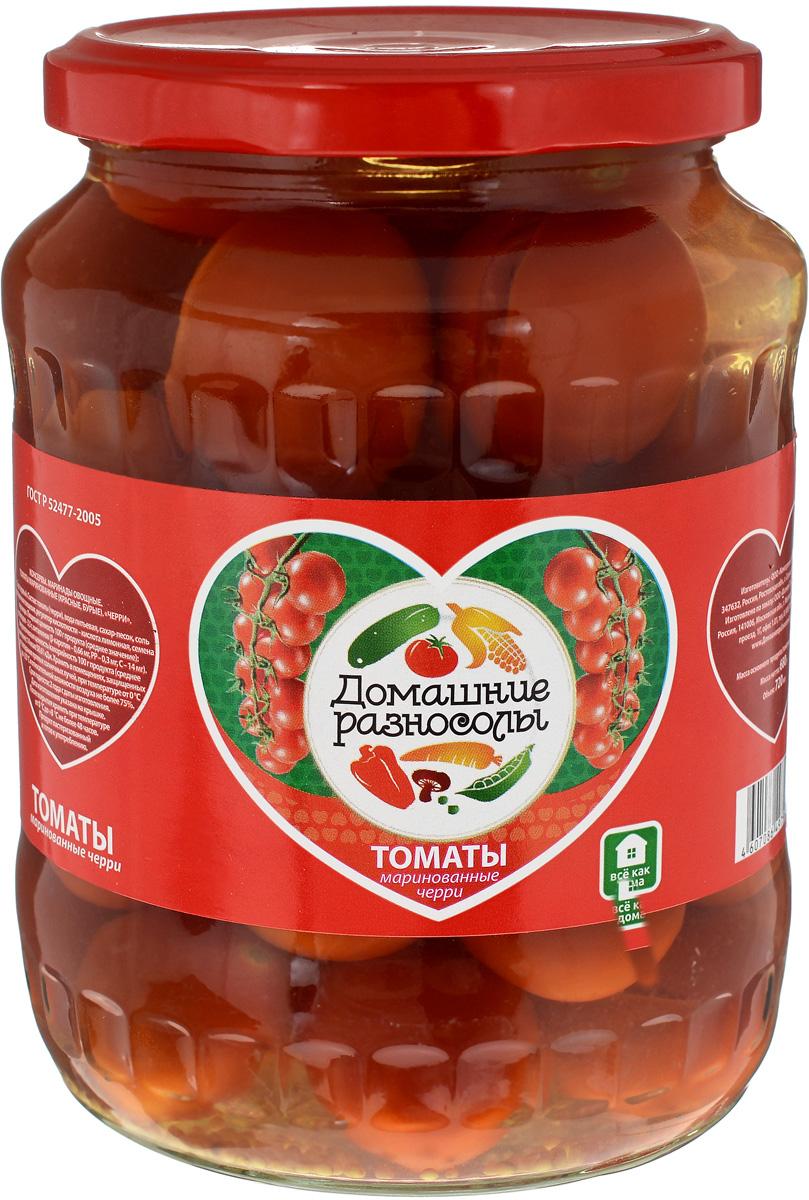 Домашние разносолы томаты черри маринованные, 720 мл lorado томаты маринованные 720 мл
