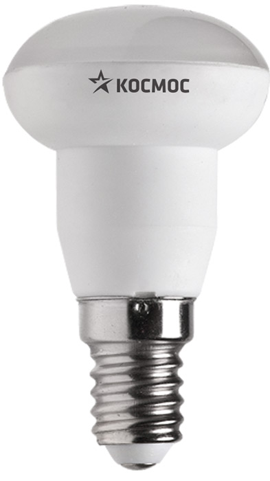 Лампа светодиодная Космос Стандарт, R39, 220V, нейтральный свет, цоколь E14, 4WLksm_LED4wR39E1445Декоративная светодиодная лампа R39 4 Вт серии Космос Стандарт является аналогом лампы накаливания 40 Вт. В основе лампы используются чипы от мирового лидера Epistar, что обеспечивает надежную и стабильную работу в течение всего срока службы (30 000 часов). До 90% экономии энергии по сравнению с обычной лампой накаливания (сопоставимы по размеру); стабильный световой поток в течение всего срока службы; экологическая безопасность (не содержит ртути и тяжелых металлов); мягкое и равномерное распределение света повышает зрительный комфорт и снижает утомляемость глаз; благодаря высокому индексу цветопередачи свет лампы комфортен и передает естественные цвета и оттенки; инструкция по эксплуатации и гарантийный талон - в комплекте.