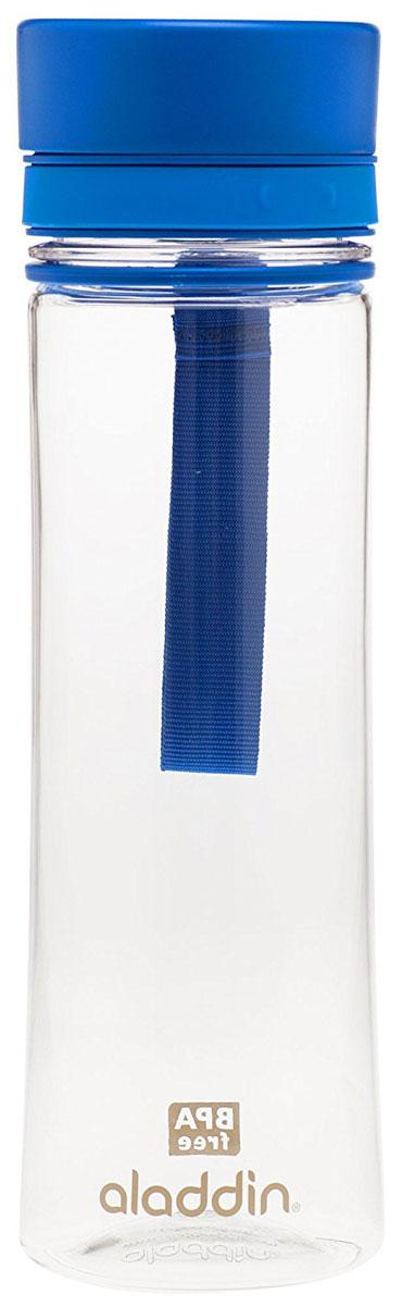 Бутылка для воды Aladdin Aveo, цвет: синий, 0,35 л10-01101-087Бутылка для воды с герметичной крышкой, из материала Tritan, не сохраняющего запахи, не взаимодействующего с напитками при повышении температуры. Легко наполнять и мыть, для посудомоечной машины, цвет крышки- синий.