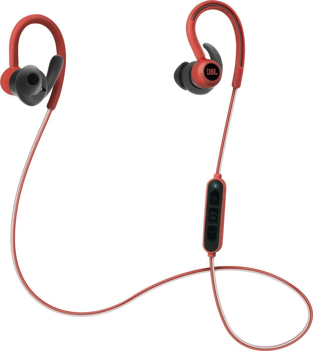 JBL Reflect Contour, Red наушникиJBLREFCONTOURREDПредставляем беспроводные спортивные наушники JBL Reflect Contour. В наушниках используется технология Dual Lock с заушным креплением и надежной посадкой в ухе для непрерывного прослушивания. Фанаты спорта могут сохранять энергичность и сосредоточенность на тренировке благодаря воспроизведению в течение 8 часов и мощному фирменному звуку JBL. Благодаря превосходным материалам высшего качества, защите от влаги и простоте использования, а также встроенному пульт ДУ с тремя кнопками ваши тренировки мгновенно взлетят на новый уровень.