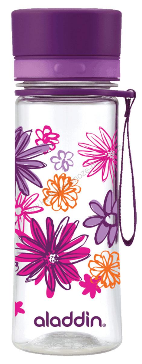 Бутылка для воды Aladdin Aveo, цвет: фиолетовый, 0,35 л10-01101-088Стильная бутылка для воды Aladdin Aveo изготовленаиз материала Tritan, не сохраняющего запахи, не взаимодействующего снапитками при повышении температуры. Изделие оснащено крышкой,которая плотно и герметично закрывается.Употребление достаточного количества жидкости -важнаячасть спортивного режима. Благодаря эргономичнойформеэту бутылку удобно носить в руках.Можно мыть в посудомоечной машине.