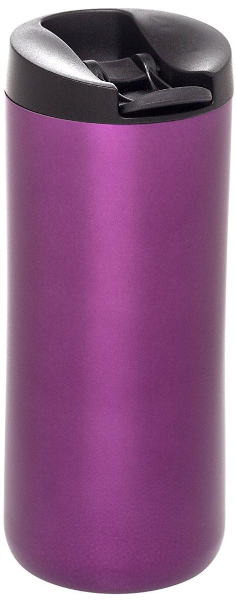 Термокружка Aladdin, цвет: фиолетовый, 0,35 л10-01923-015Термокружка Aladdin из нержавеющей стали с вакуумной изоляцией. Герметична, сохраняет тепло до 3 часов и холод до 20 часов. Совместима с подстаканником автомобиля.Можно мыть в посудомоечной машине.