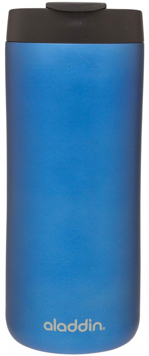 Термокружка Aladdin, цвет: синий, 0,47 л. 10-01918-04510-01918-045Термокружка Aladdin с герметичной крышкой из пластика. Совместима с подстаканником автомобиля.Можно мыть в посудомоечной машине.