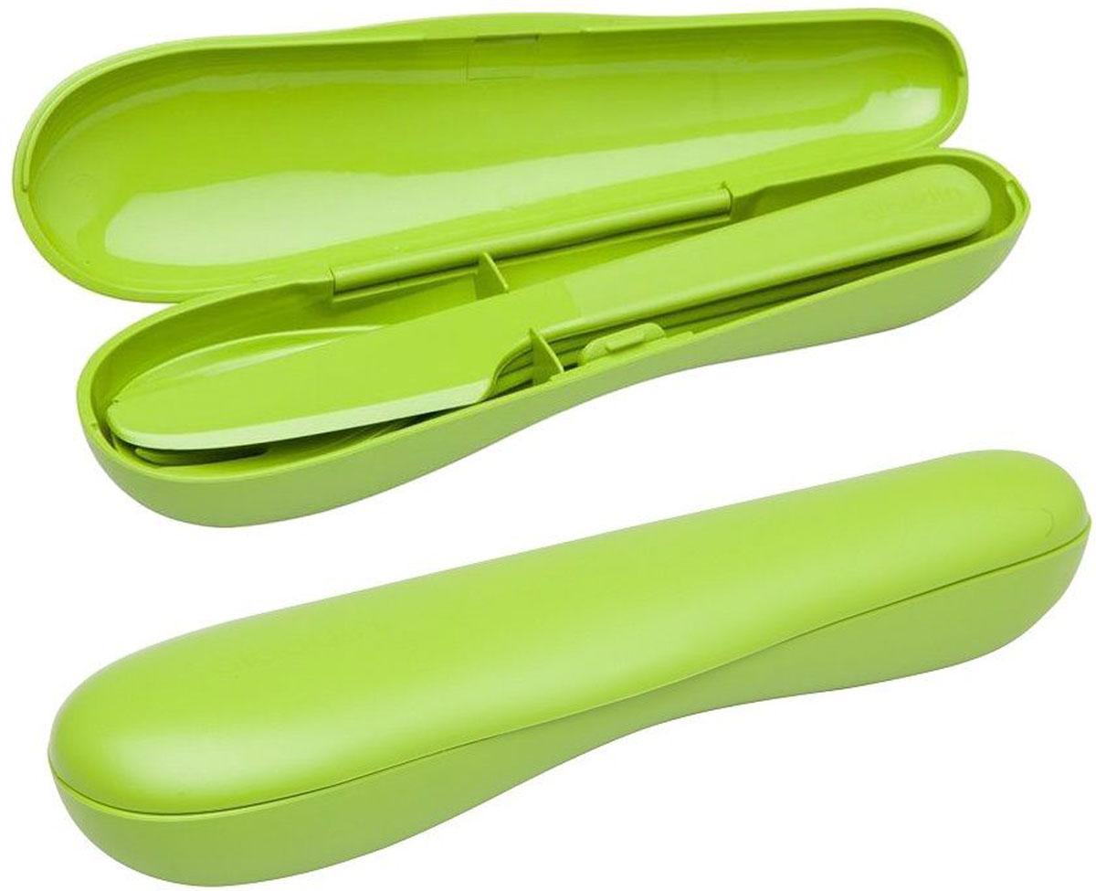 Набор столовых приборов туристический Aladdin Papillon, цвет: зеленый, 3 шт10-01374-025- зеленыйНабор Aladdin Papillon состоит из ложки, вилки и ножа. Изделиявыполнены из прочного пищевого пластика. Его удобно использовать на даче,брать с собой на пикники и в поездки.Пластиковая посуда не разобьется и будет служить вам долгое время. Изделиялегко моются,гигиеничны, не накапливают запахов. Можно мыть в посудомоечной машине.