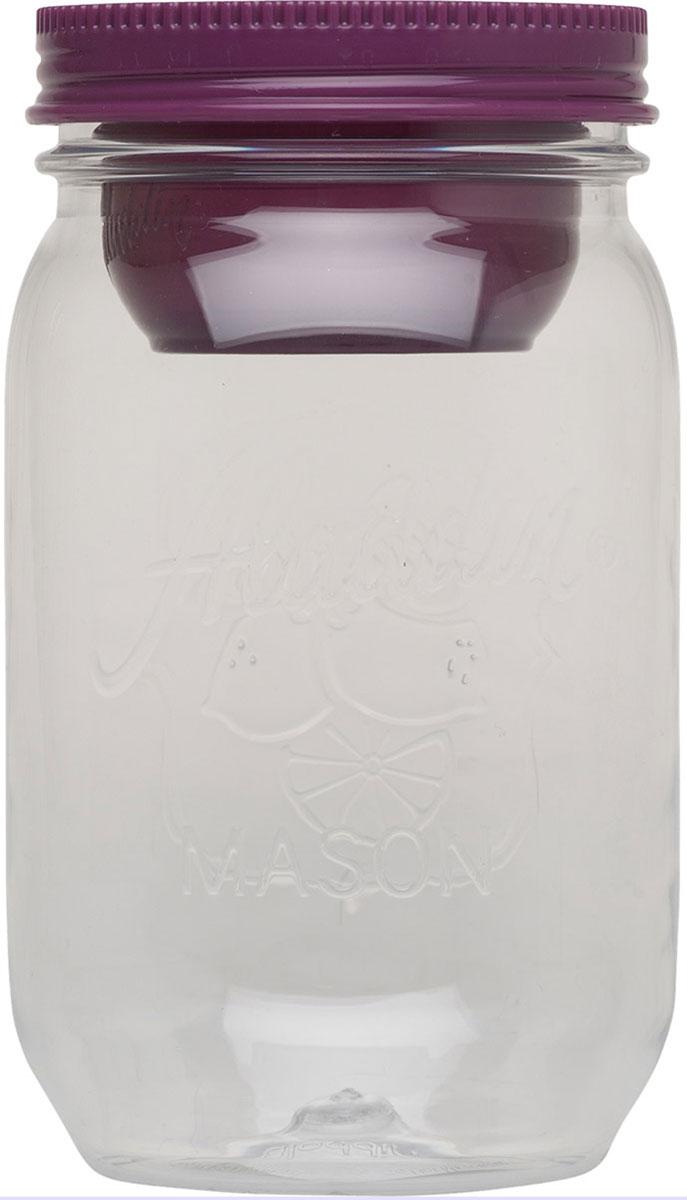 Контейнер Aladdin Mason, цвет: фиолетовый, 1 л monbento ланч бокс mb original 1 л зеленый белый 18 5х9 4х10 см