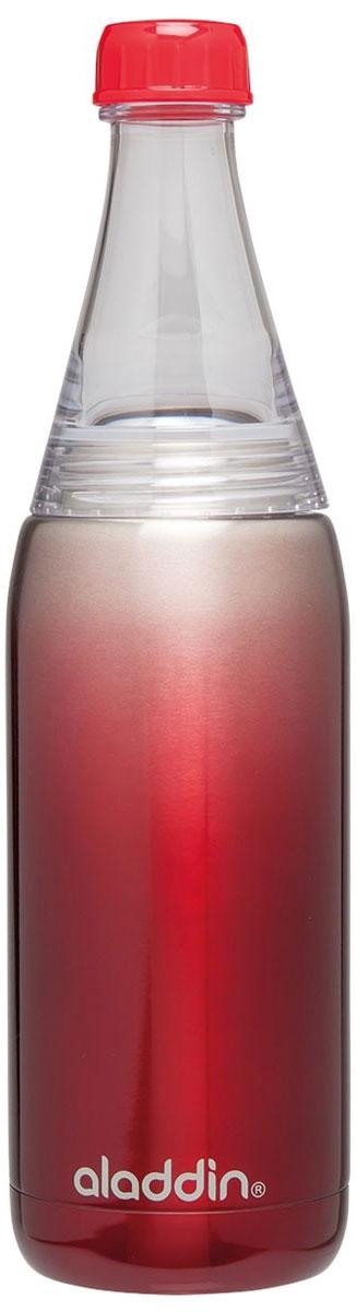 Бутылка для воды Aladdin Fresco, цвет: красный, 600 мл10-02863-004Стильная бутылка для воды Aladdin Fresco, изготовленнаяиз нержавеющей стали, оснащена крышкой,котораяплотно и герметично закрывается. Совместима с подстаканникомавтомобиля. Употребление достаточного количества жидкости -важнаячасть спортивного режима. Благодаря эргономичнойформеэту бутылку удобно носить в руках.Можно мыть в посудомоечной машине.