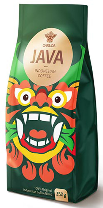 Garuda Java кофе молотый, 250 г960006 (JK)100% селективный бленд из Индонезийской островной арабики, Южноамериканской арабики и ориентальной плантационной робусты (70/30) для тех, кто предпочитает идеальную текстуру и полное «тело» напитка; минимальная кислотность; сбалансированная яркая горчинка; орехи и сухофрукты, медовые нотки при добавлении сахара.