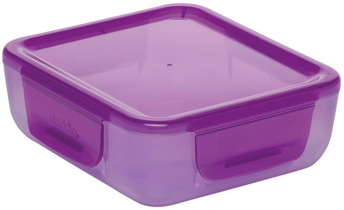 Ланч-бокс Aladdin Bento, цвет: фиолетовый, 0,7 л10-02086-010Удобный и надежный ланч-бокс Aladdin Bento для людей, которые поддерживают активный образ жизни, увлекаются спортом, соблюдают здоровое питание или просто любят наслаждаться блюдами собственного приготовления не только дома. Ланч-бокс оснащен крышкой с защелками. Основными преимуществами является компактность и вместительность изделия, безопасный для здоровья материал и современный, функциональный дизайн.