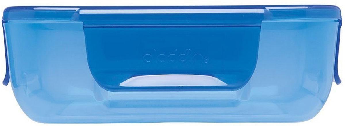 Ланч-бокс Aladdin Bento, цвет: синий, 0,7 л10-02086-011Ланч-бокс для хранения продуктов, герметичен. Удобная крышка с защелками, крепление с одной стороны, легко разбирается для мытья, для использования в микроволновой печи. Цвет-синий.