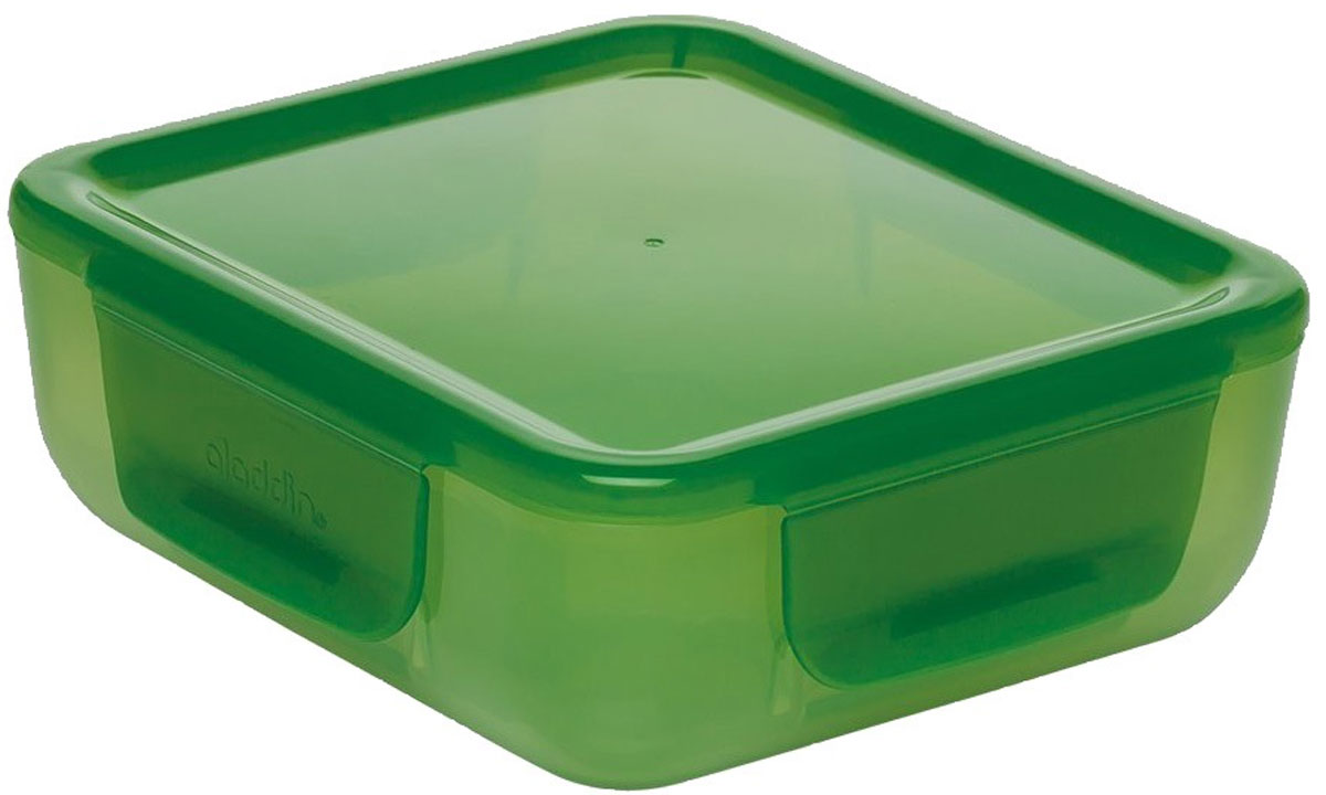 Ланч-бокс Aladdin Bento, цвет: зеленый, 700 мл10-02086-009Удобный и надежный ланч-бокс Aladdin Bento для людей, которые поддерживают активный образ жизни, увлекаются спортом, соблюдают здоровое питание или просто любят наслаждаться блюдами собственного приготовления не только дома. Ланч-бокс оснащен крышкой с защелками. Основными преимуществами является компактность и вместительность изделия, безопасный для здоровья материал и современный, функциональный дизайн.