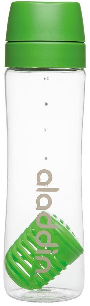 Бутылка для воды Aladdin Aveo, цвет: зеленый, 0,7 л10-01785-051Стильная бутылка для воды Aladdin Active изготовлена из материала Tritan, несохраняющего запахи, прочного к ударам ине взаимодействующего с напитками при повышении температуры. Изделиеоснащено герметичной крышкой и ситечком-фильтром из пластика для чая ифруктов.Употребление достаточного количества жидкости -важнаячасть спортивного режима. Благодаря эргономичнойформеэту бутылку удобно носить в руках.Можно мыть в посудомоечной машине.