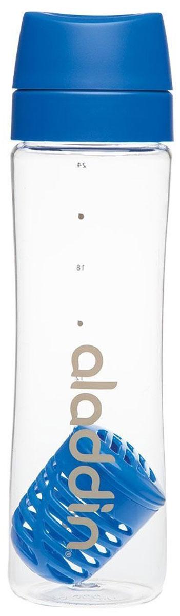 Бутылка для воды Aladdin Aveo, цвет: голубой, 0,7 л10-01785-049Стильная бутылка для воды Aladdin Active изготовлена из материала Tritan, несохраняющего запахи, прочного к ударам ине взаимодействующего с напитками при повышении температуры. Изделиеоснащено герметичной крышкой и ситечком-фильтром из пластика для чая ифруктов.Употребление достаточного количества жидкости -важнаячасть спортивного режима. Благодаря эргономичнойформеэту бутылку удобно носить в руках.Можно мыть в посудомоечной машине.